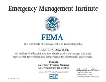 Emergency Manager Orientation